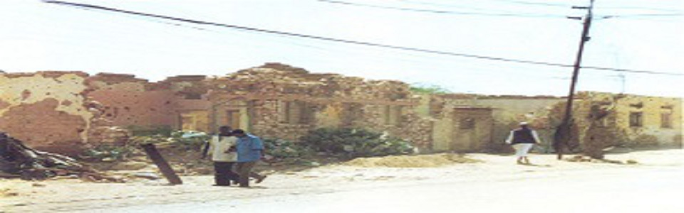 Hargeisa, capital city of Somaliland, in 1991 - shows the the ruins of the air bombardment